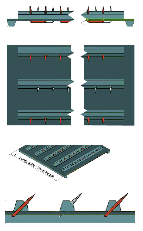 Esbelt Monoblock Apron Belts with Pins
