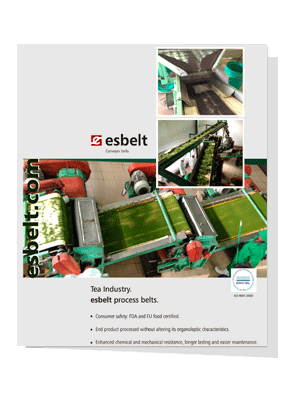 esbelt process and conveyor belts for tea industry.