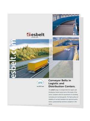 Esbelt conveyor belts in logistics & distribution centres