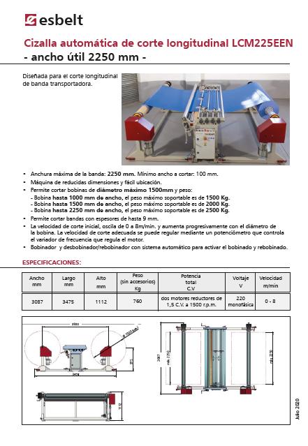 Cizalla Automatica de Corte Longitudinal LCM225EEN