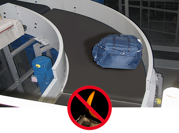 Bandas transportadoras anti-llama