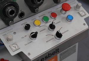 Esbelt Automatic Slitter- Central control panel.